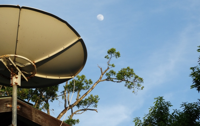 orientar antena parabólica
